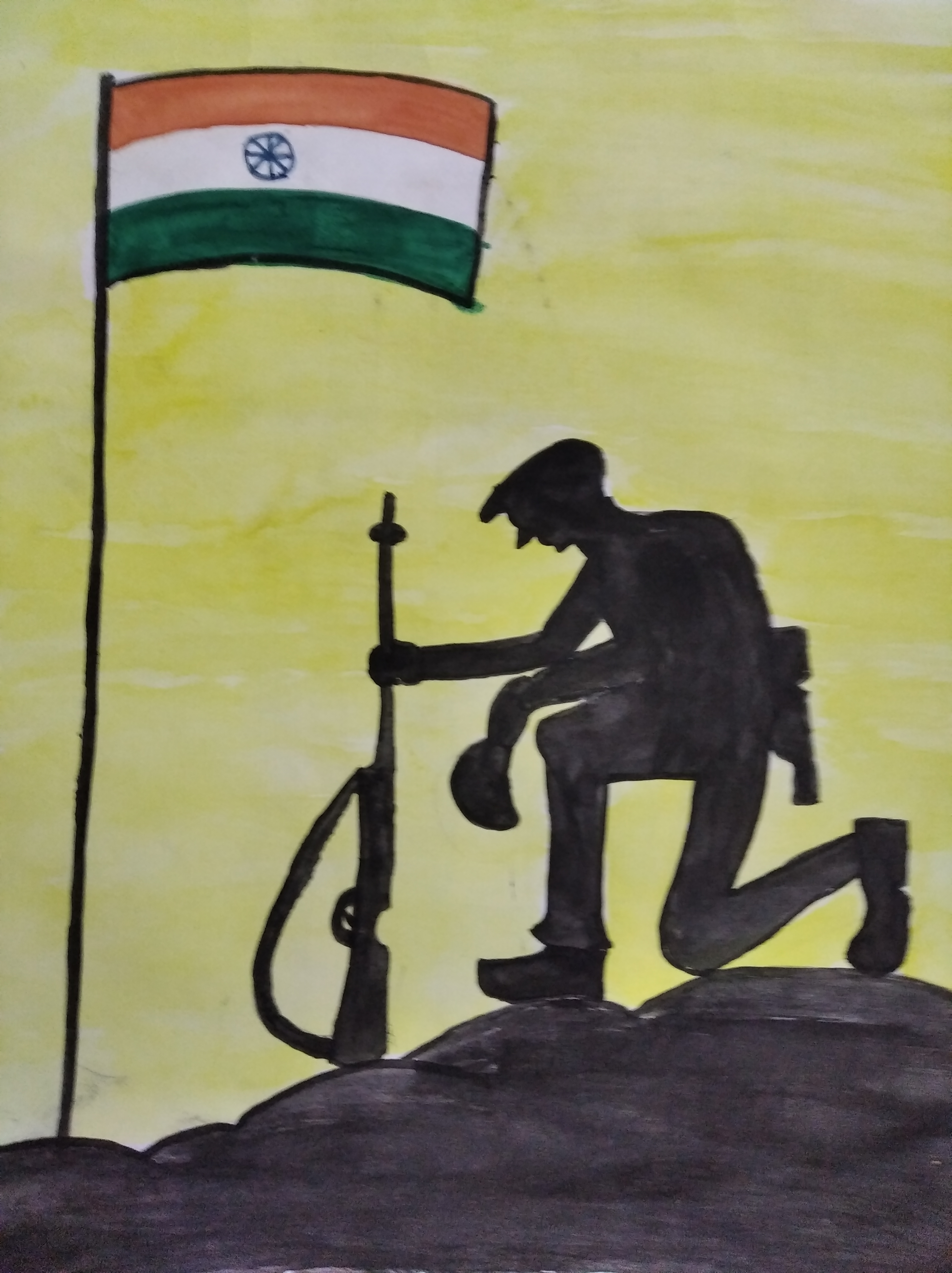 Aishaani Paints 'A Tribute To Soldiers'