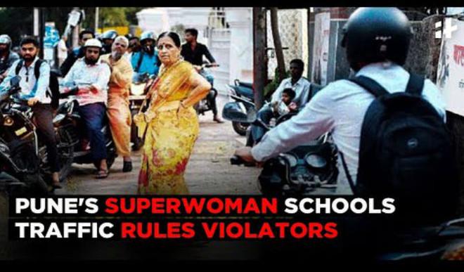 Pune's Superwoman Schools Traffic Rules Violators