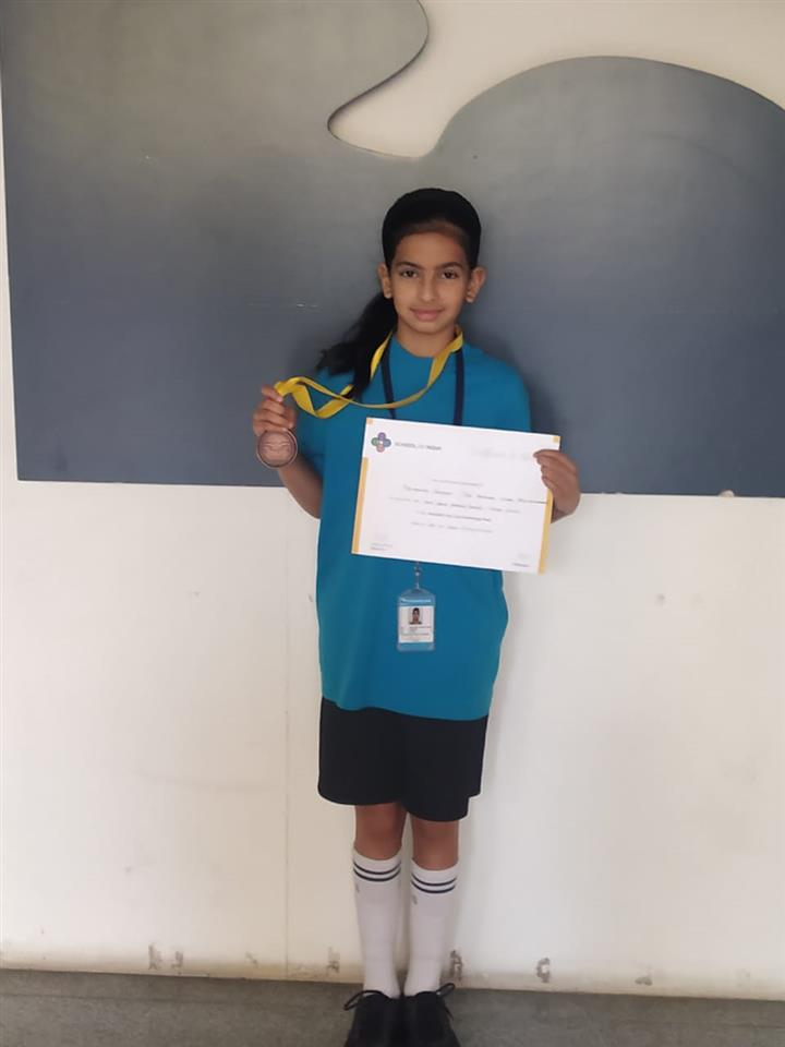 Student bags bronze medal