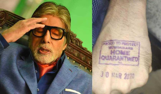 Big B Gets Home Quarantined Stamp