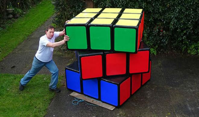 Solve A 158-kg Rubik's Cube?