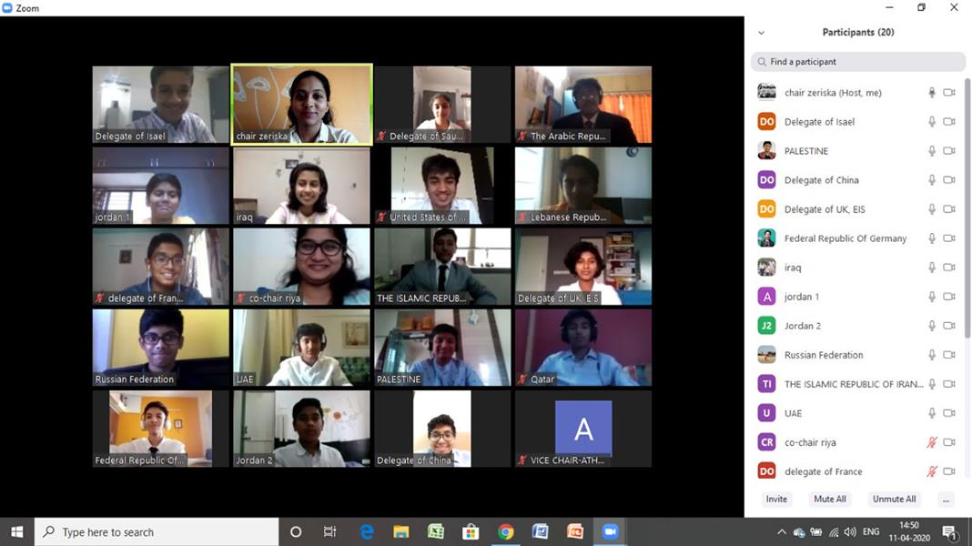 Elpro Hosts India's First Inter School eMUN