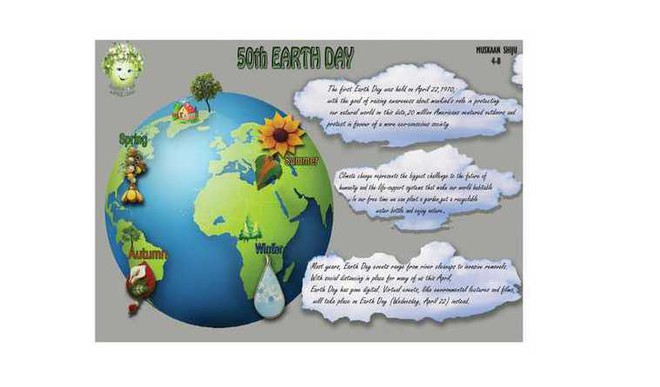 The staff and students of The Choice School, Tripunithura, Ernakulam, celebrated Earth Day on April 22