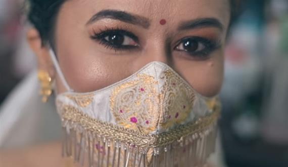 Assam Bride Wins Praises For Paat Silk Mask