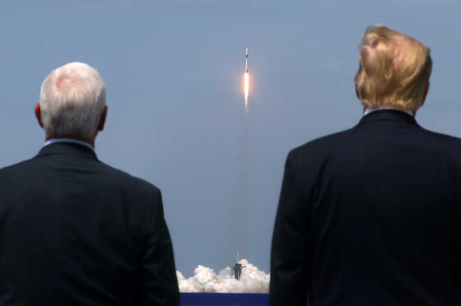 Space X Lifts Off With 2 Americans