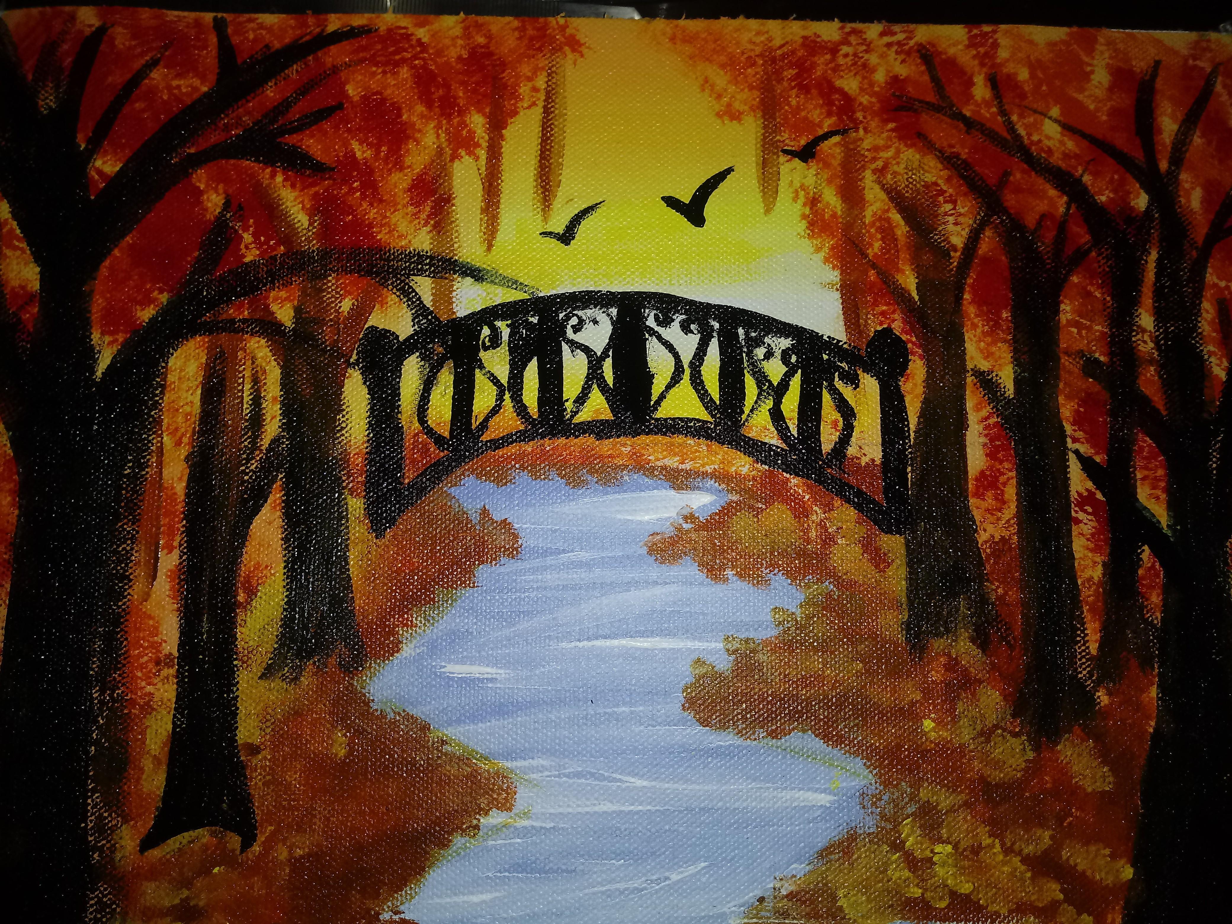 I. Lavanya Paints 'Sunset At The River'