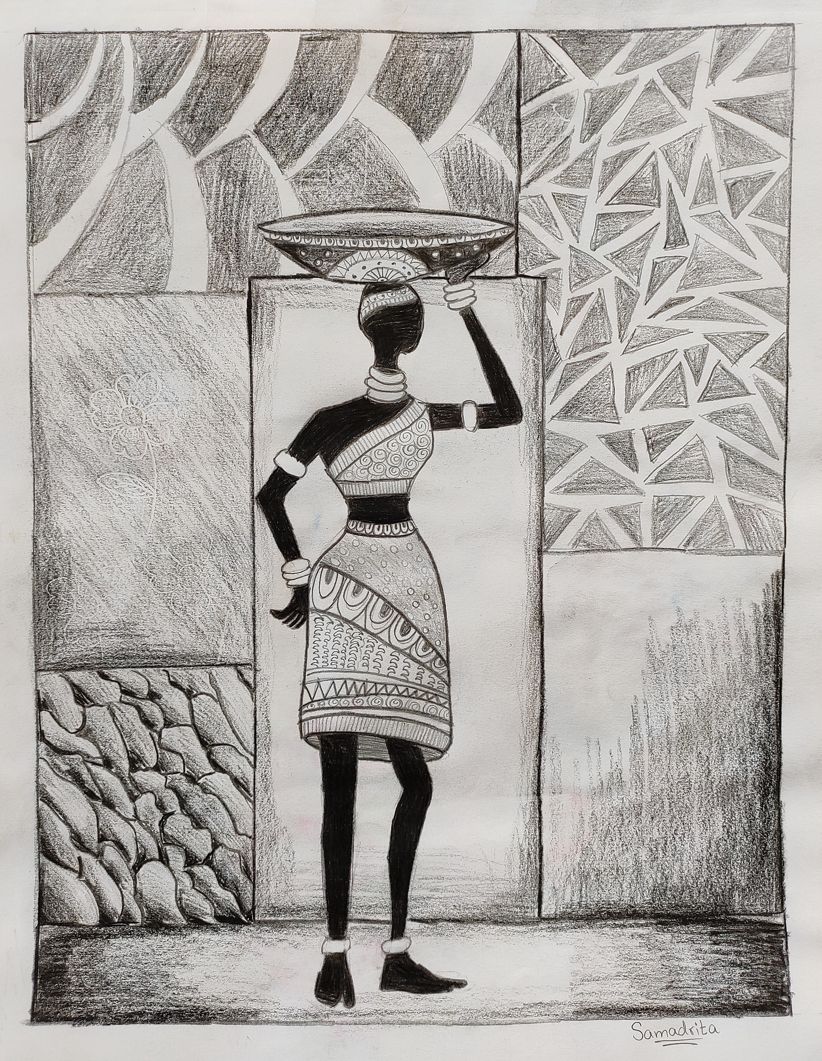 Samadrita Paints Tribal Art
