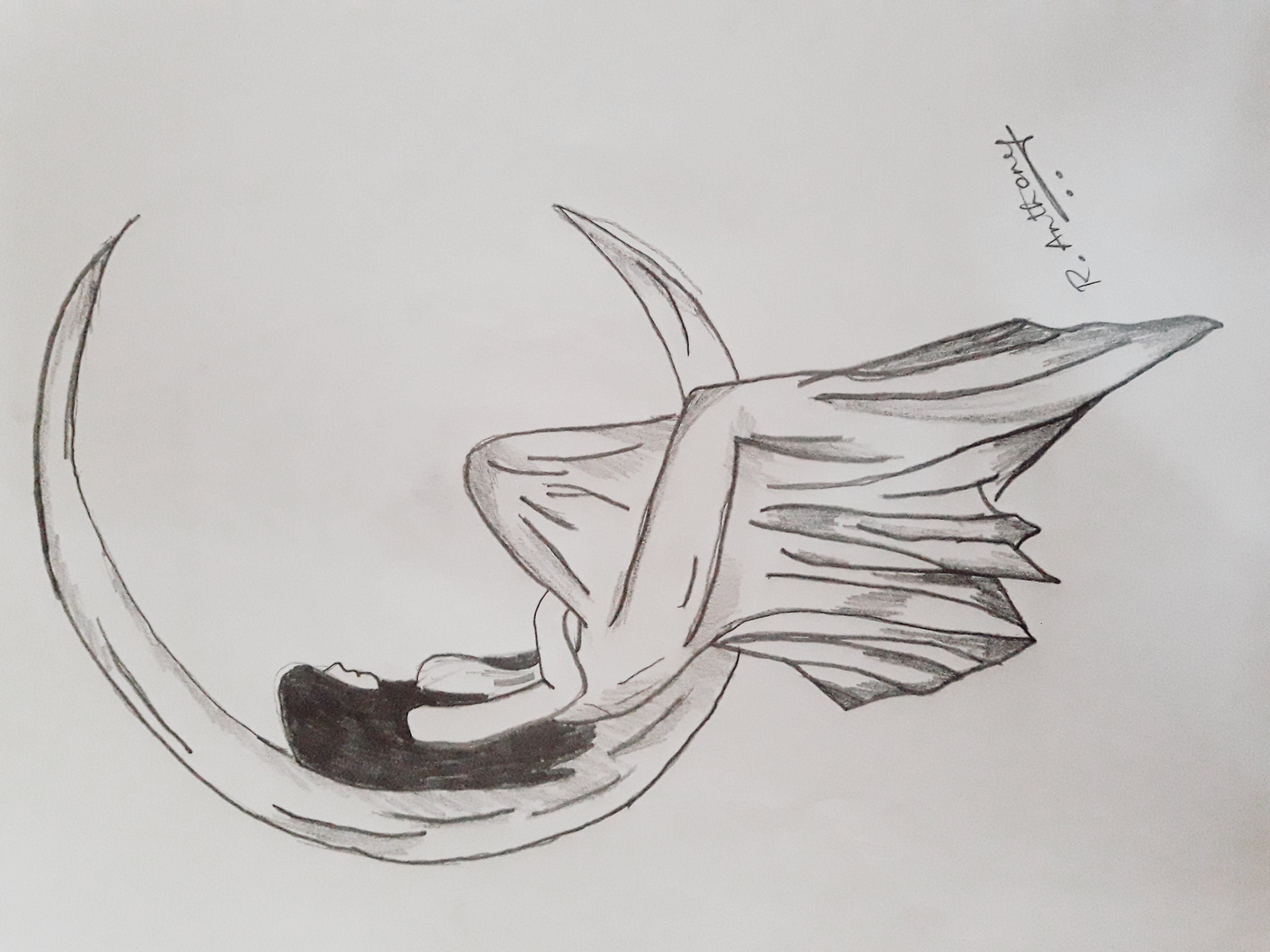 Reshab's Sketch 'The Lost Girl'