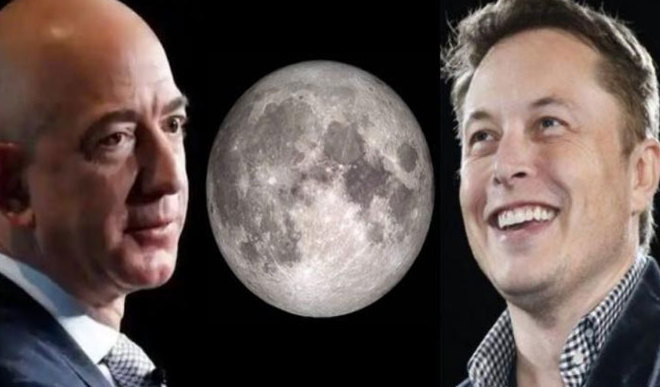 Musk And Bezos Compete For Moon Landing