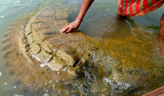 A 500YO Temple Reemerges in Odisha River