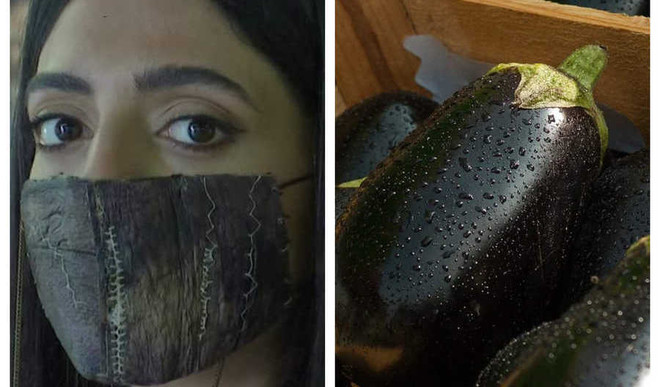 Face Masks With Eggplant Skin!