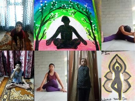 Students show enthusiasm during virtual yoga session