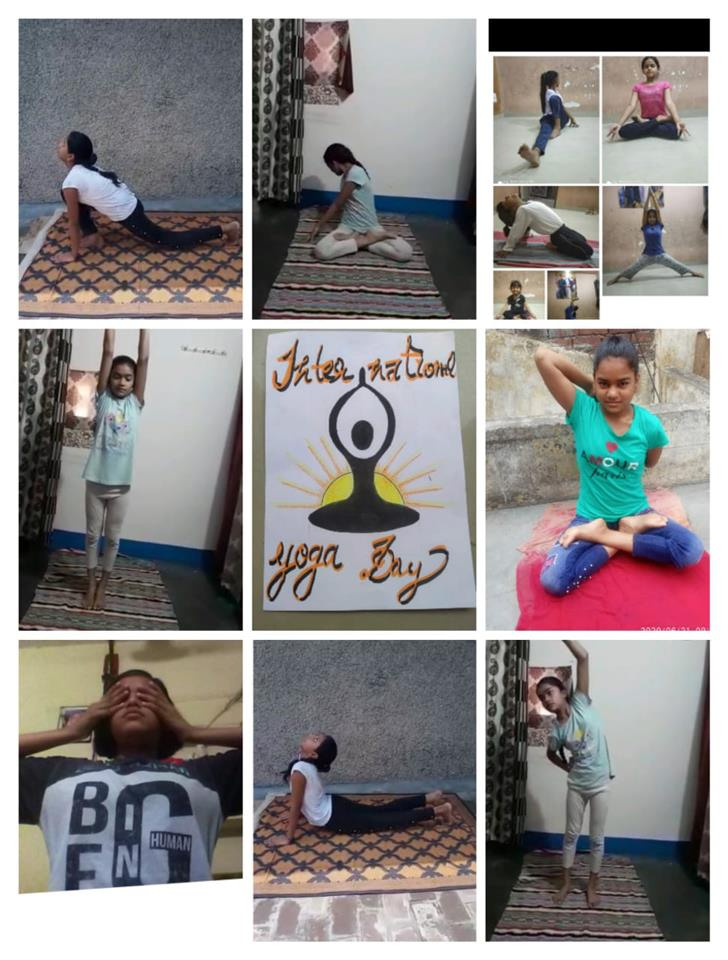 Students do asanas with ease, spread message of fitness