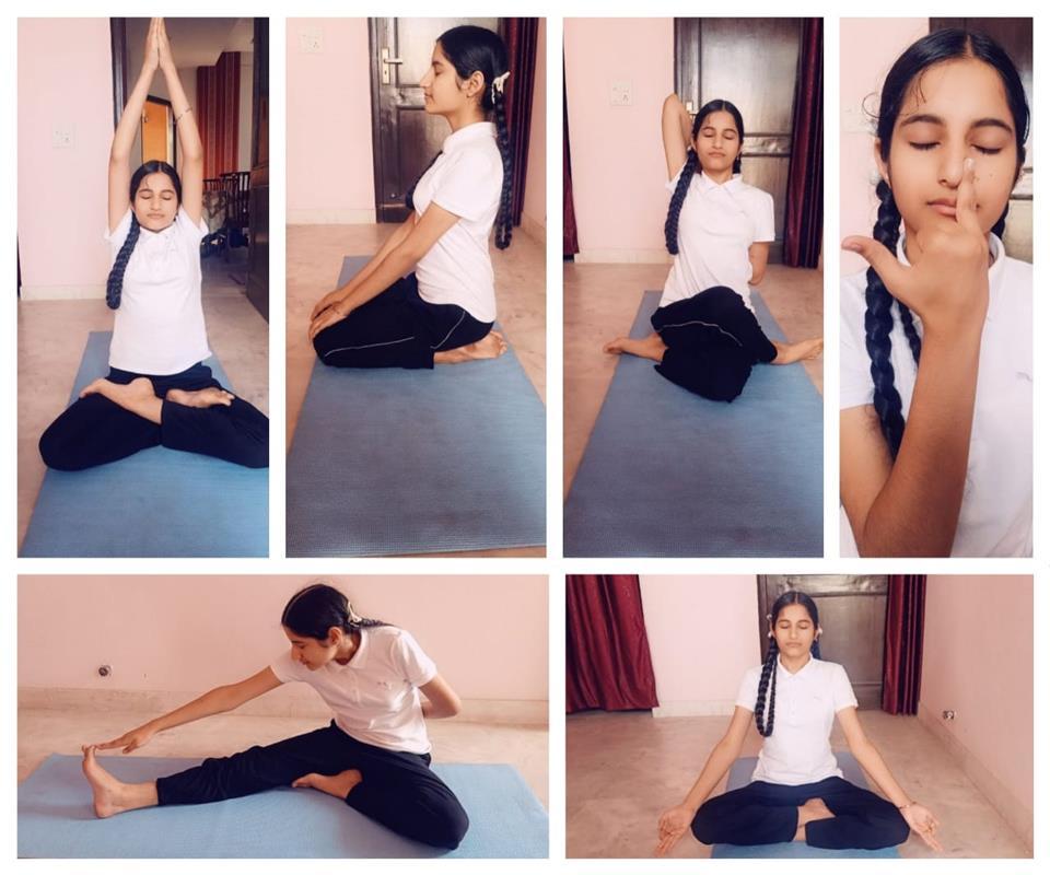 NSS volunteers of Shivalik Public observe Int'l Yoga Day
