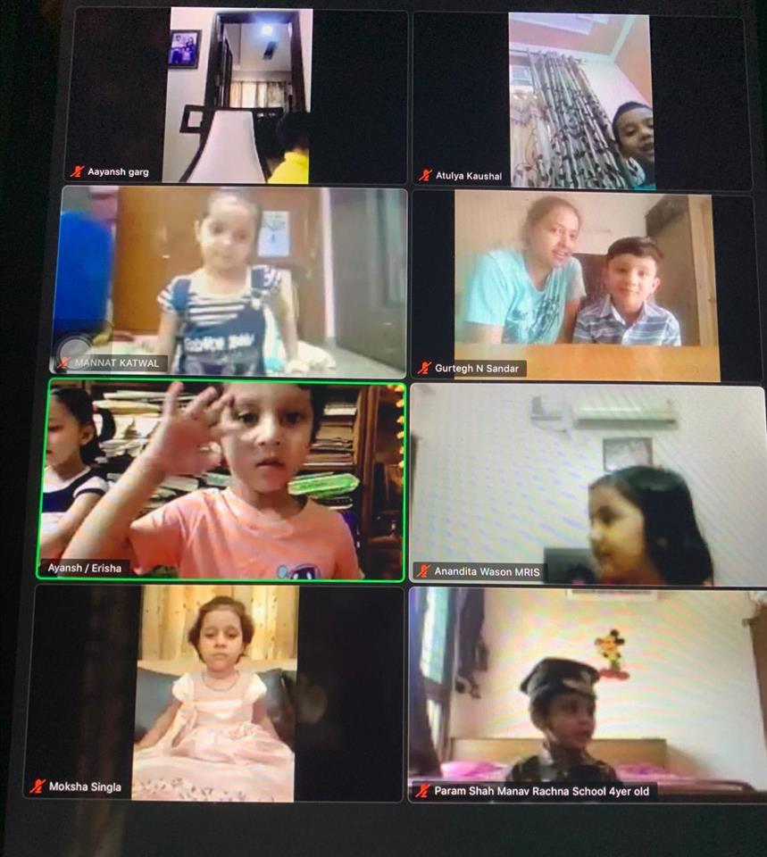 Kindergarteners of MRIS excel in online inter-school competition
