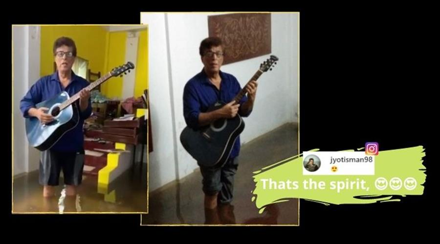 Assam AIR Artiste Sings In Knee-Deep Water