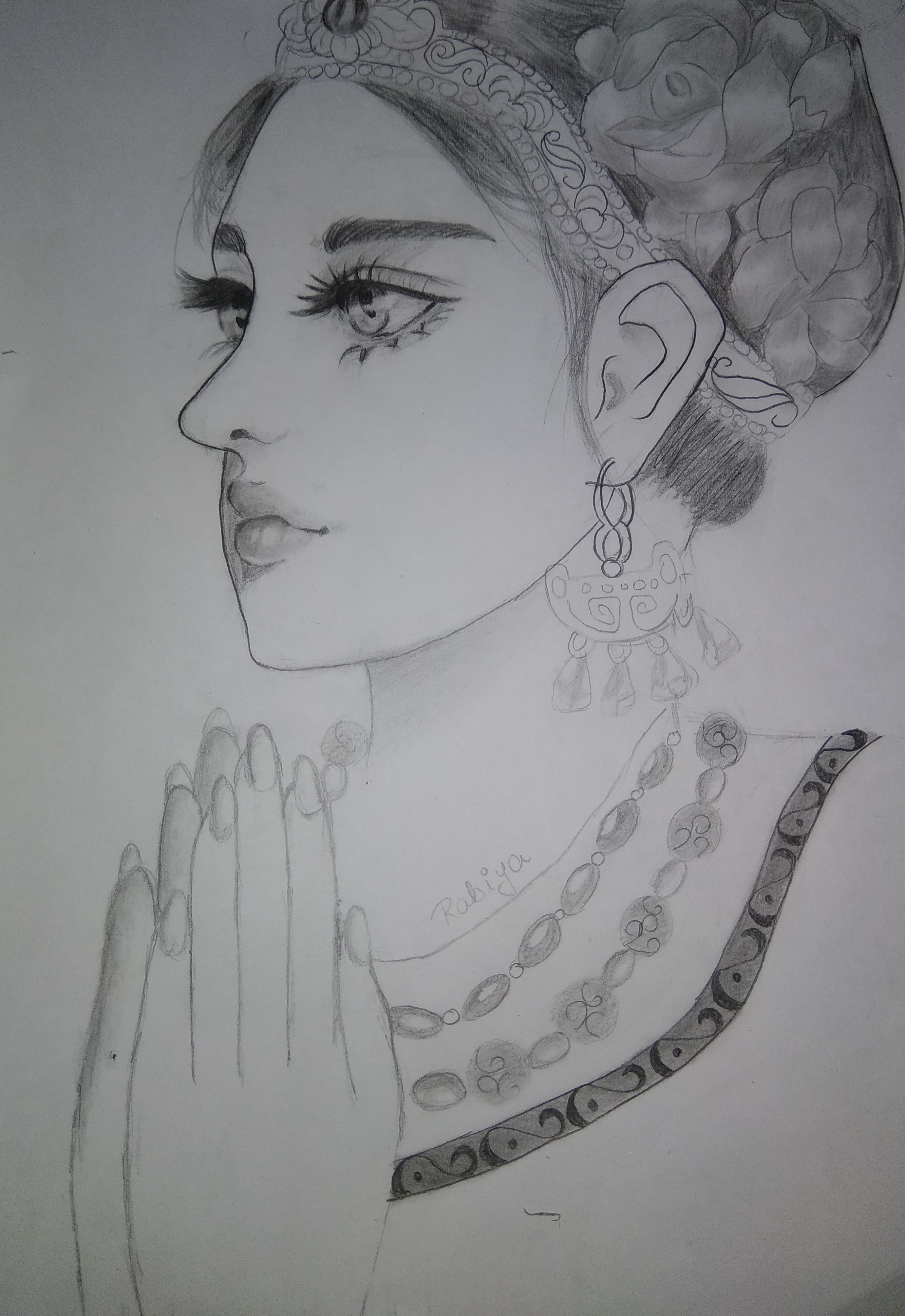 Rabiya's Sketch Of A Thai Girl