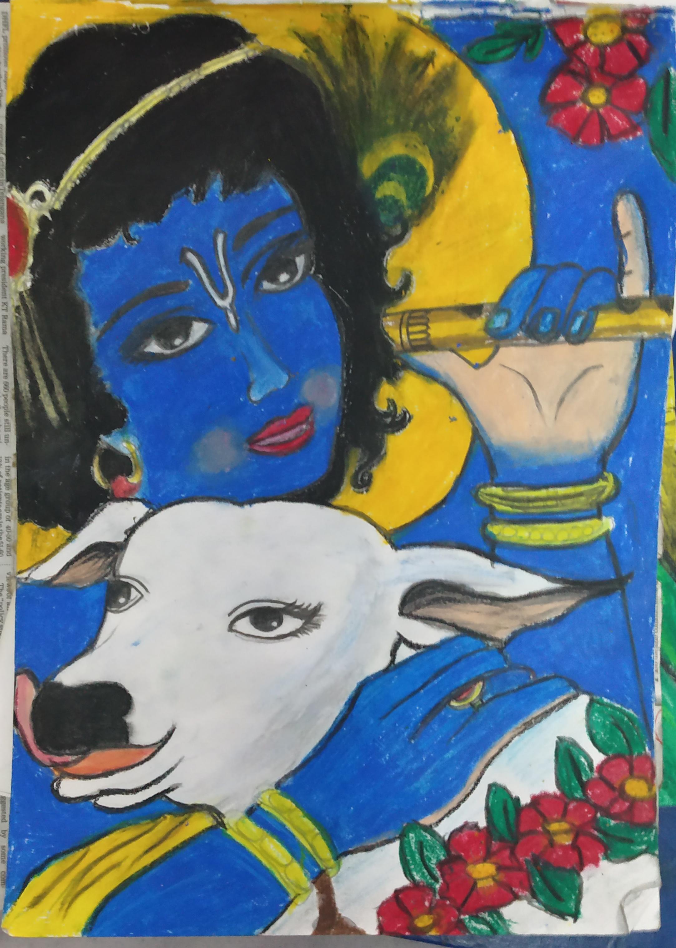Sanskriti's Drawing Of Krishna