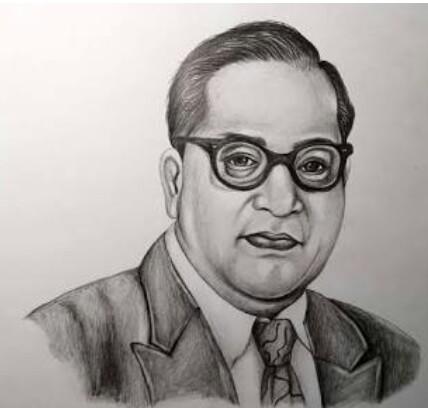 Nidhi's Sketch of Dr. BR Ambedkar