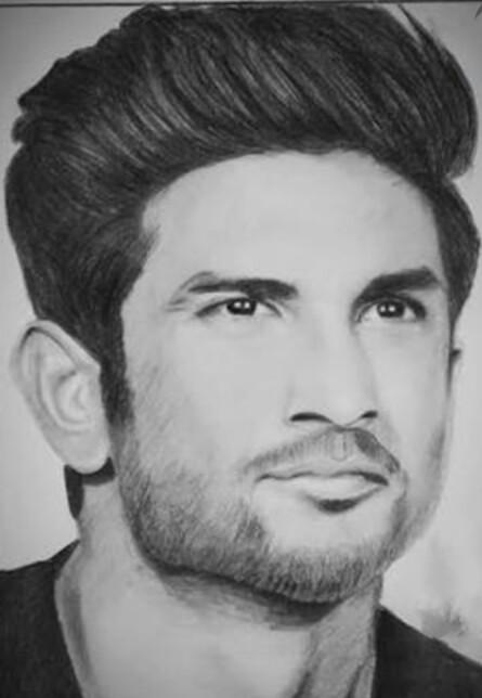 Nidhi's Sketch of Sushant Singh Rajput