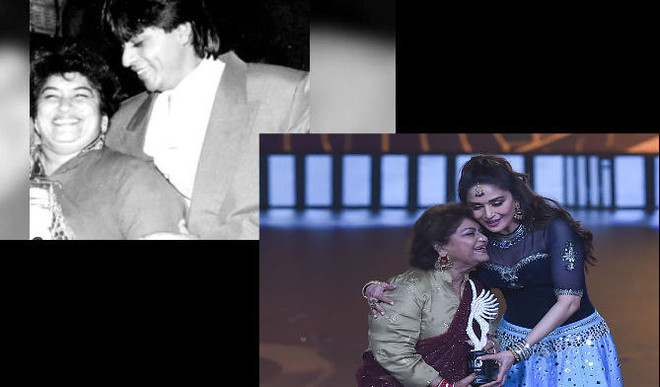 SRK, Madhuri Pay Tribute To Saroj Khan