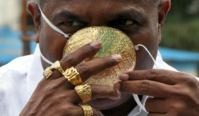 Viral: Pune Man And His Gold Mask