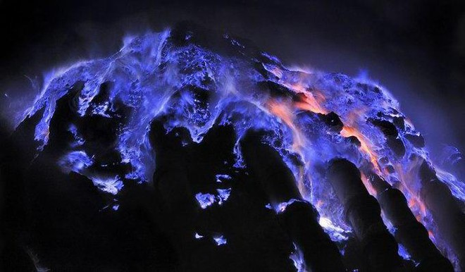 This Volcano's Lava Is Electric Blue