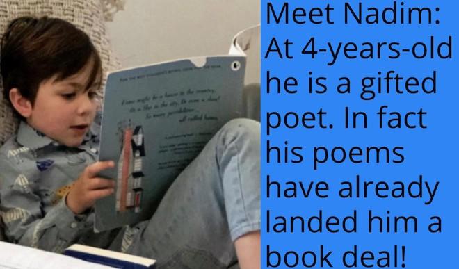 At 4, Nadim Writes Profound Poems