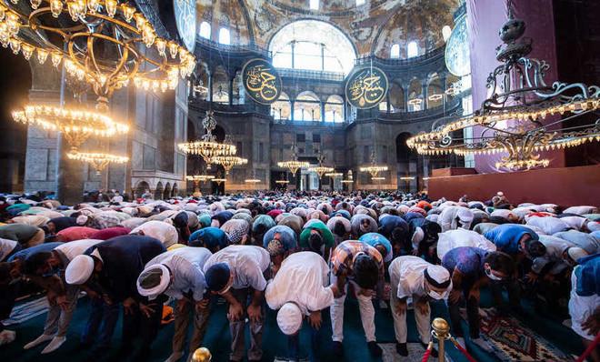 Erdogan Joins First Prayer At Hagia Sophia