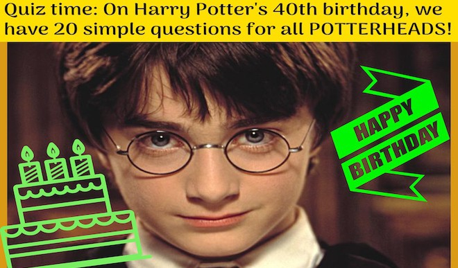 Take This Pop Quiz  On Harry Potter