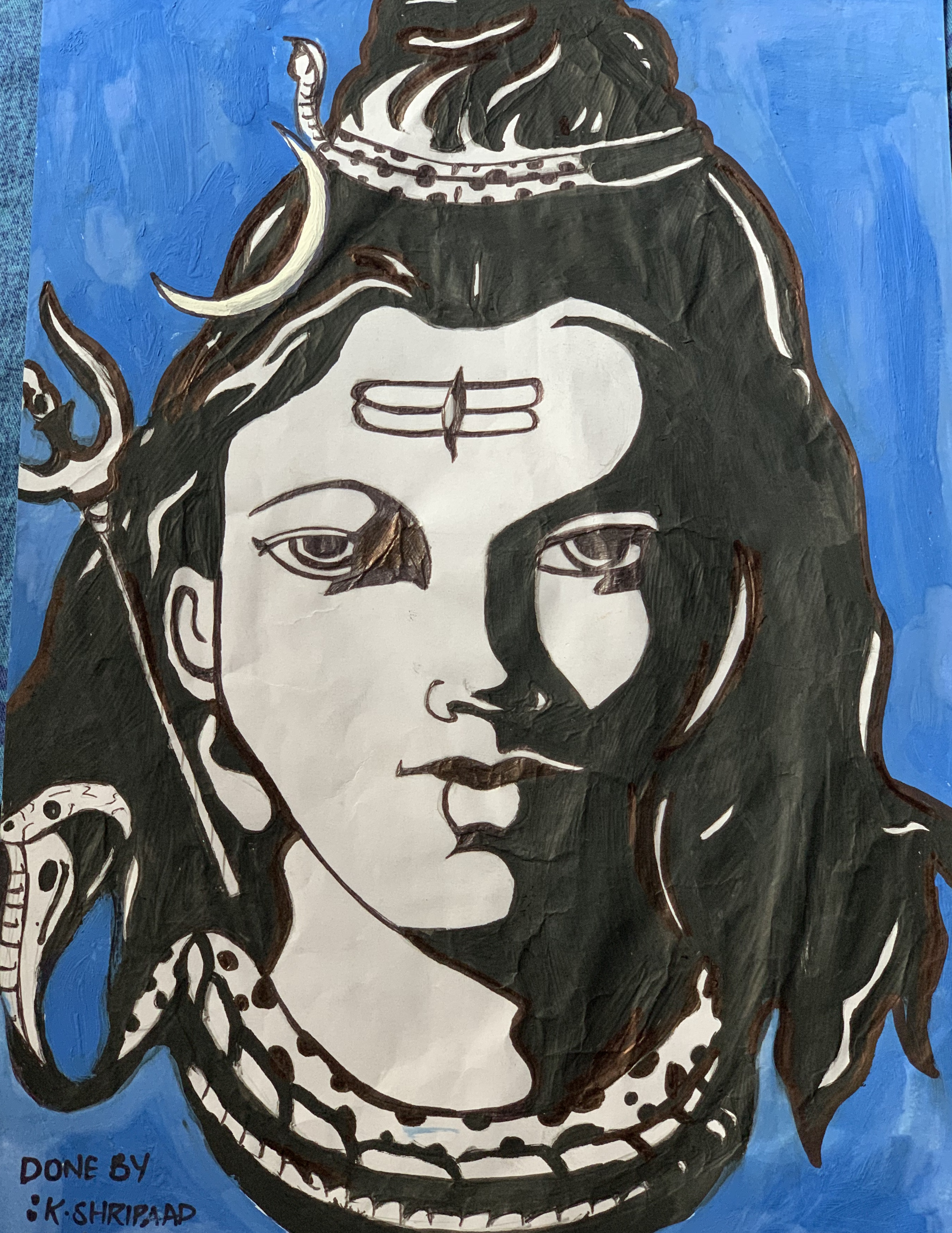 K Shripaad's Painting Of Lord Shiva