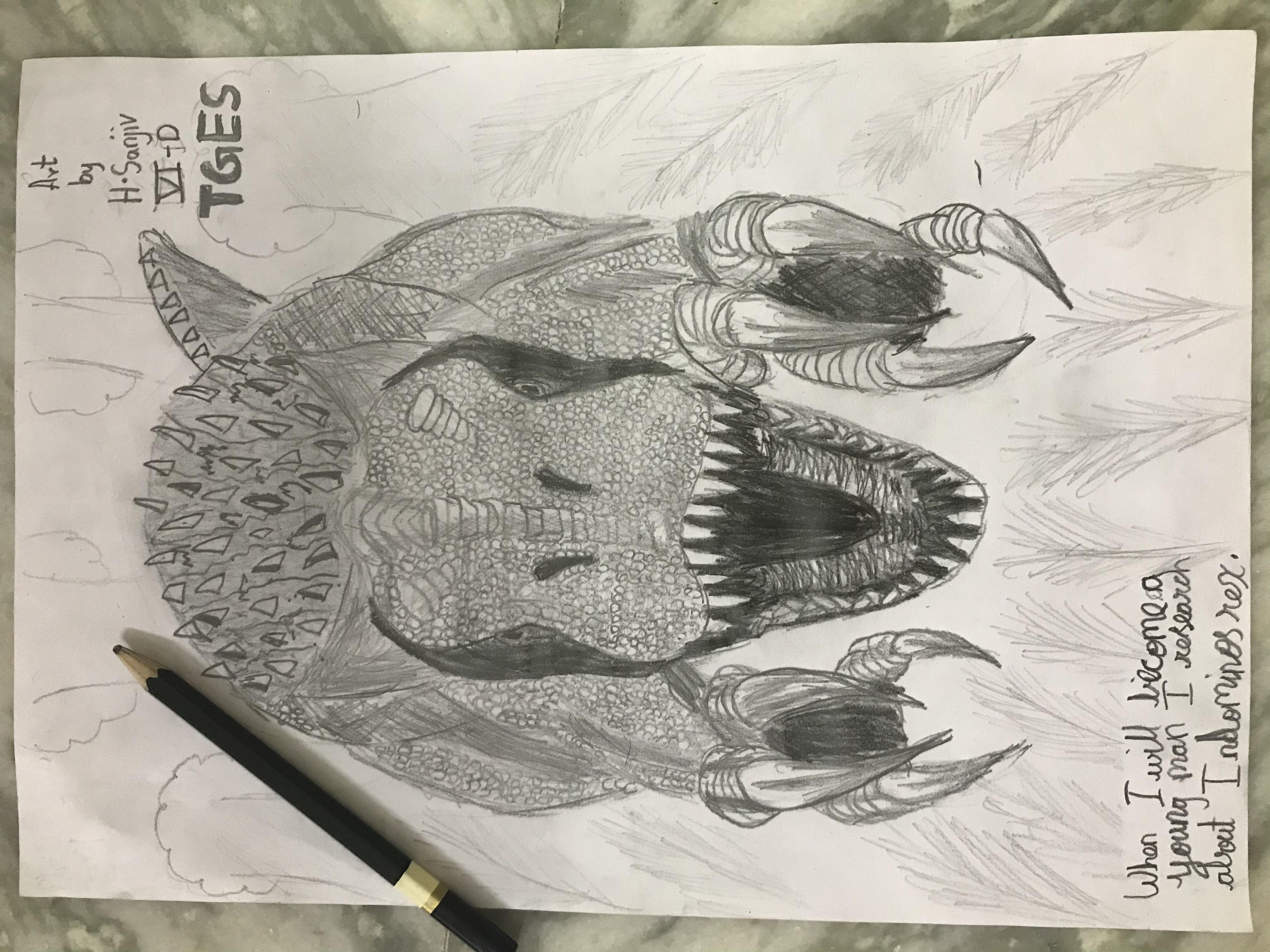 Sanjiv Sketches Indominus Rex