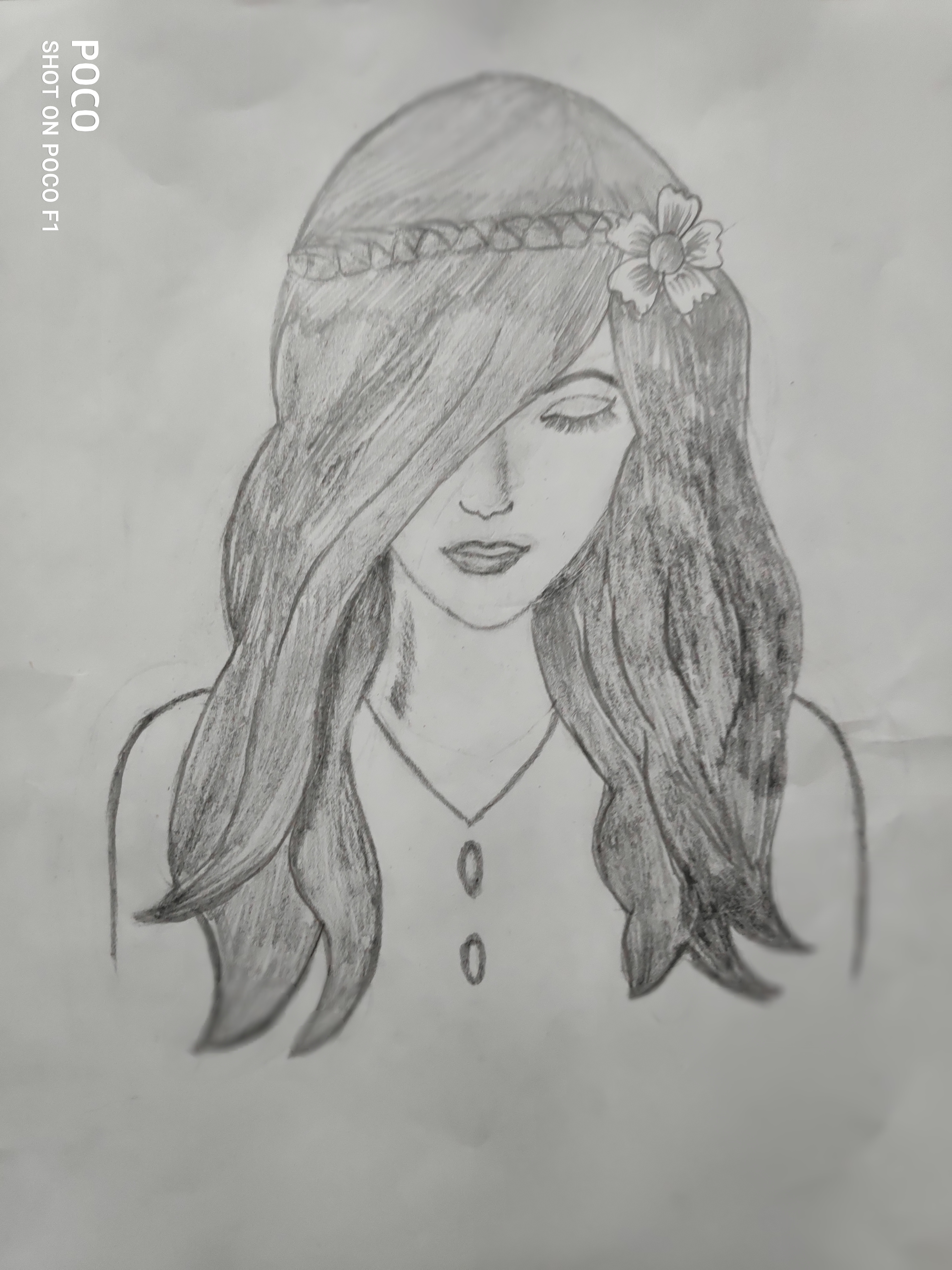 Riddhi's Sketch 'Beauty in Simplicity'