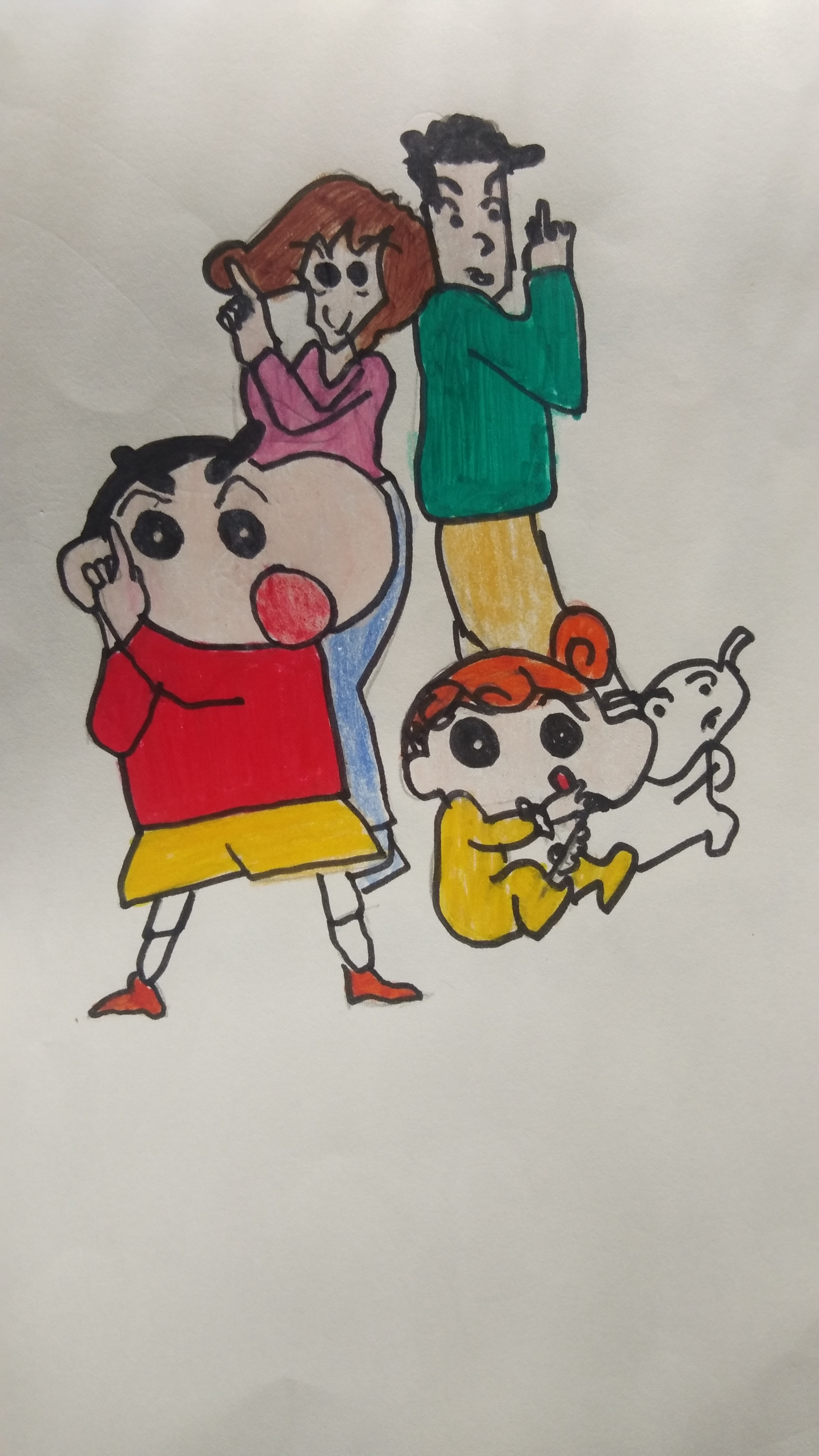 Shinchan's Sketch by Akshaya