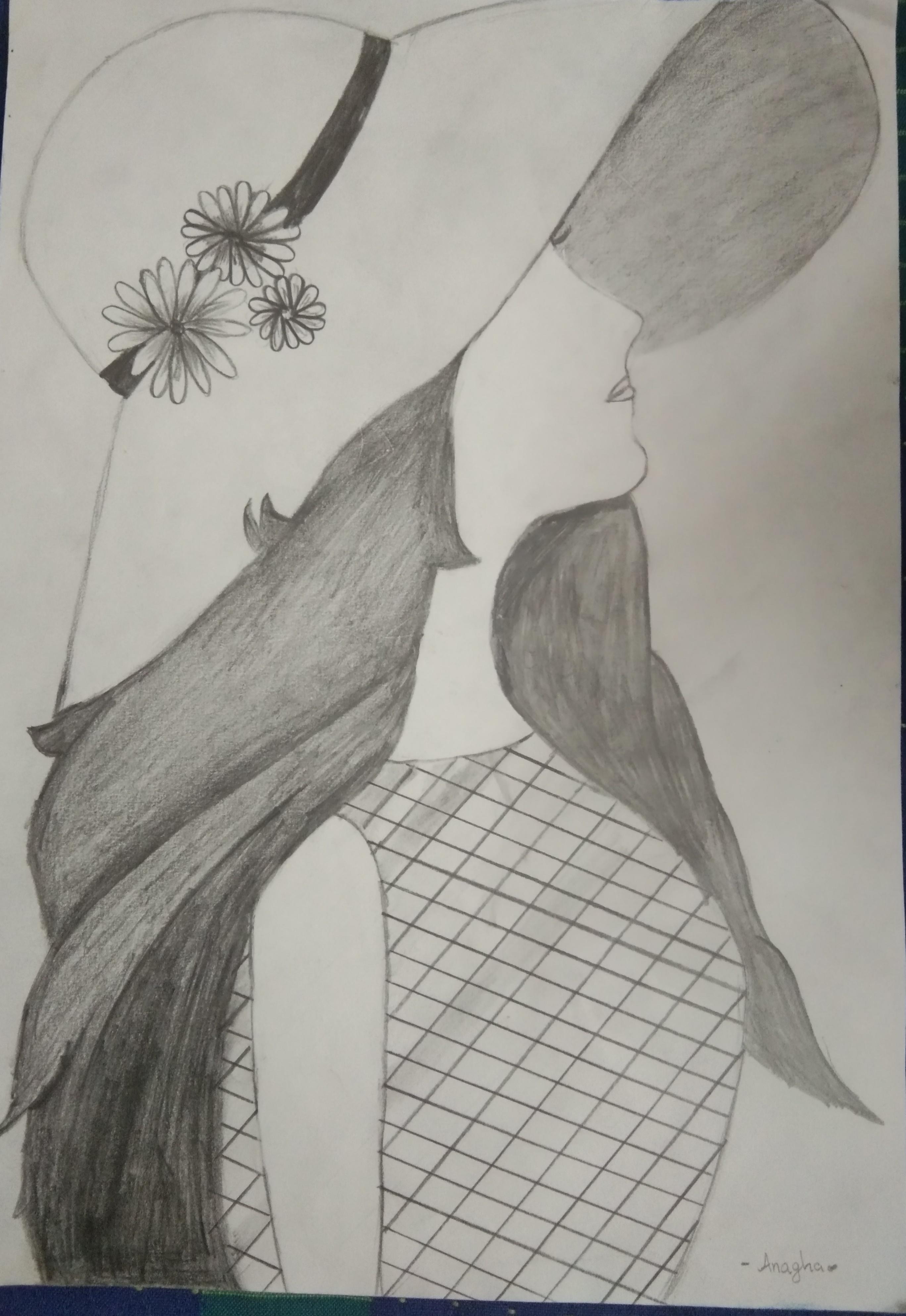 Anagha's Sketch 'Beautful Girl'