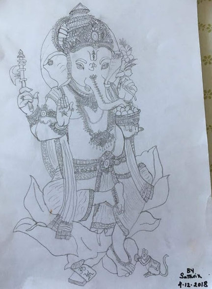Surya's Sketch Of Lord Ganesh