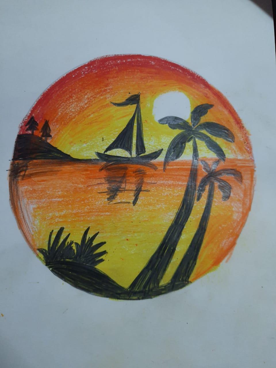 Pranavi's Painting 'The Sunset'