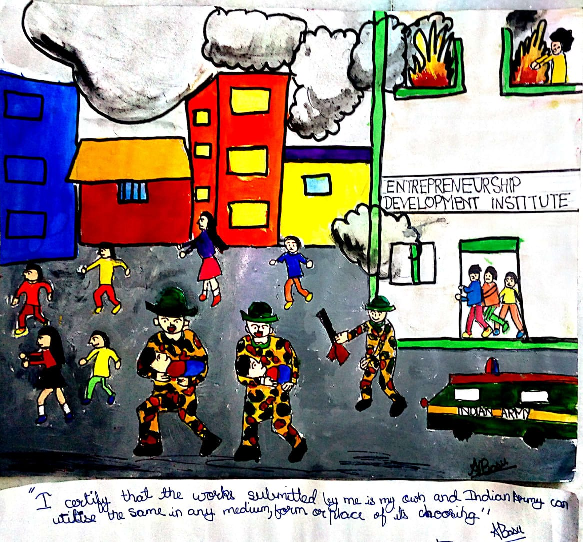 Aishani's Painting 'Salute To Soldiers'