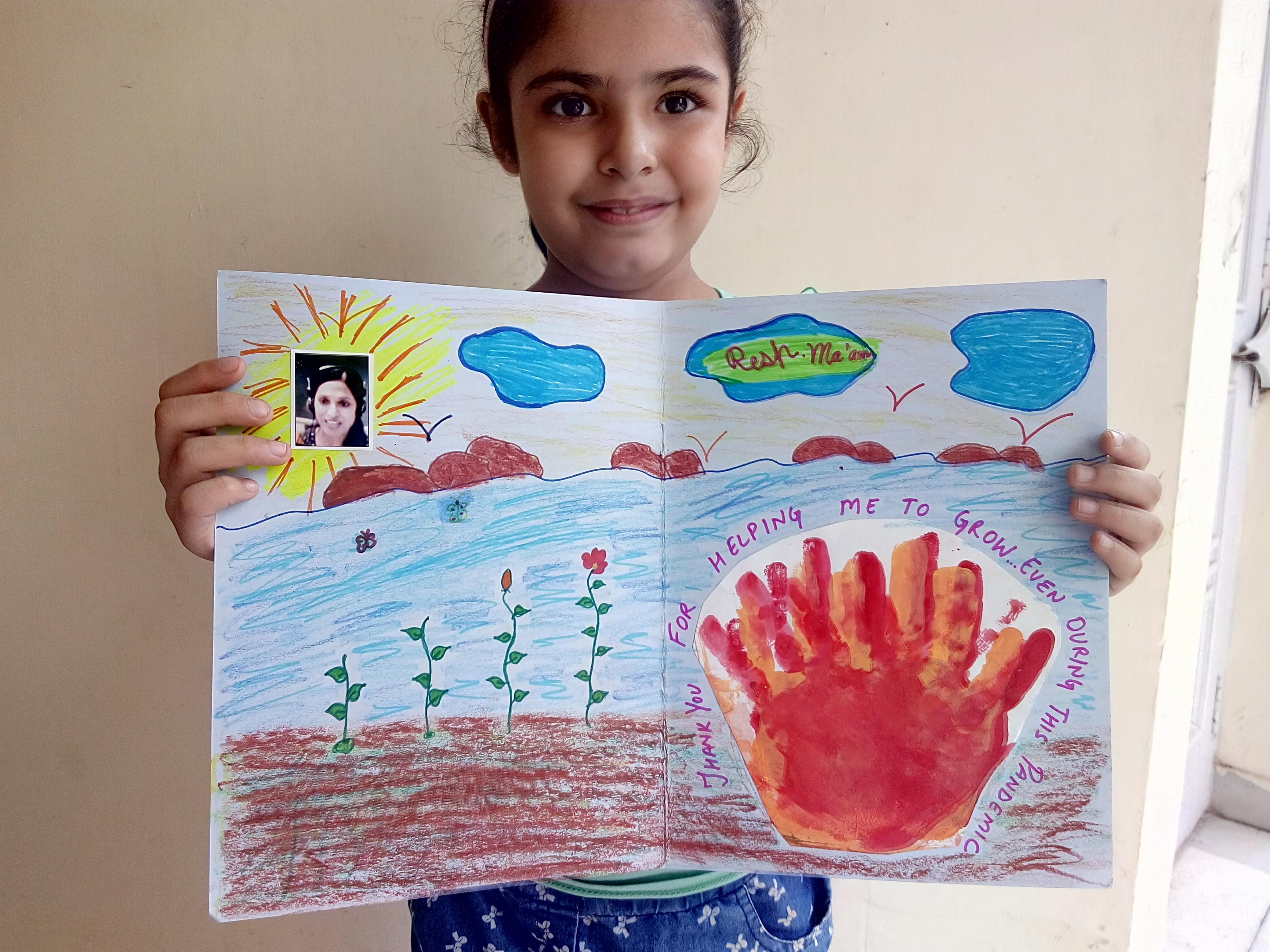 Kids thanks Corona warriors for adopting online teaching methods
