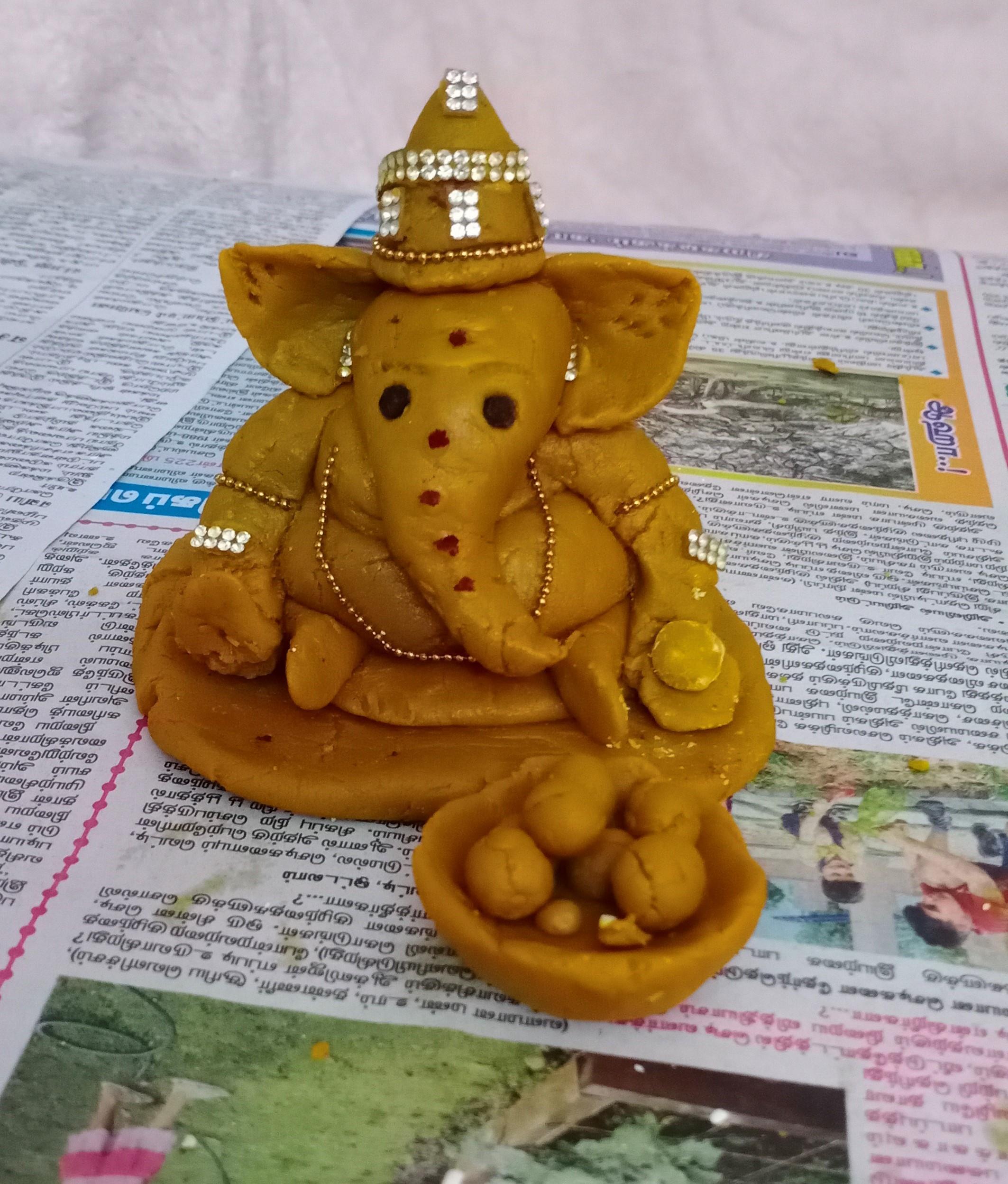 Little Ganesha made by P.Pranesh from Sri Gopal Naidu Children's School
