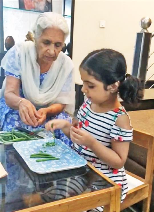 Amitians spend quality time with grandparents to strengthen bond