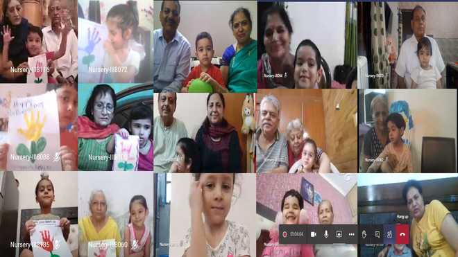 Grandparents take part in fun activities along with kids