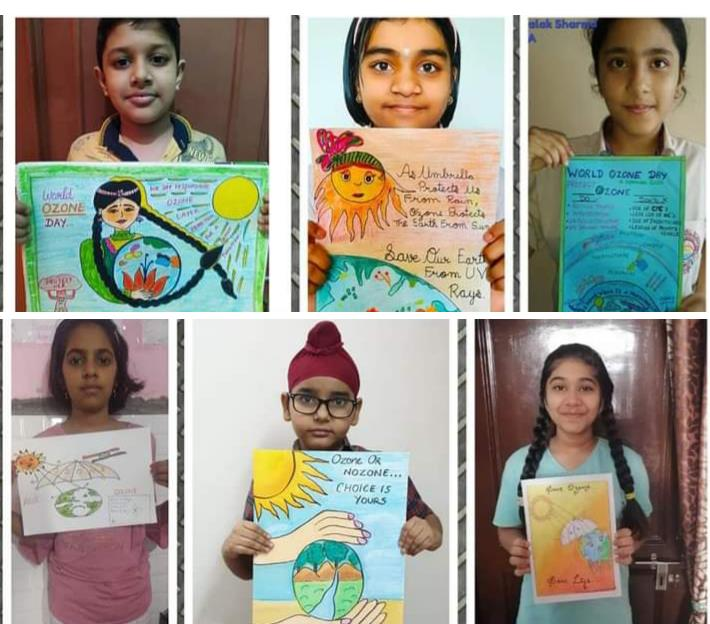 Kids propagate save Ozone layer message to all