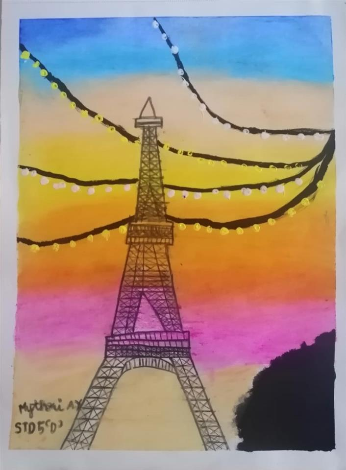 BEAUTIFUL EIFFEL TOWER: Mythri Amit Yelsangikar