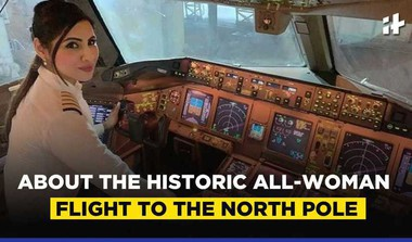 All-Woman Flight Over North Pole