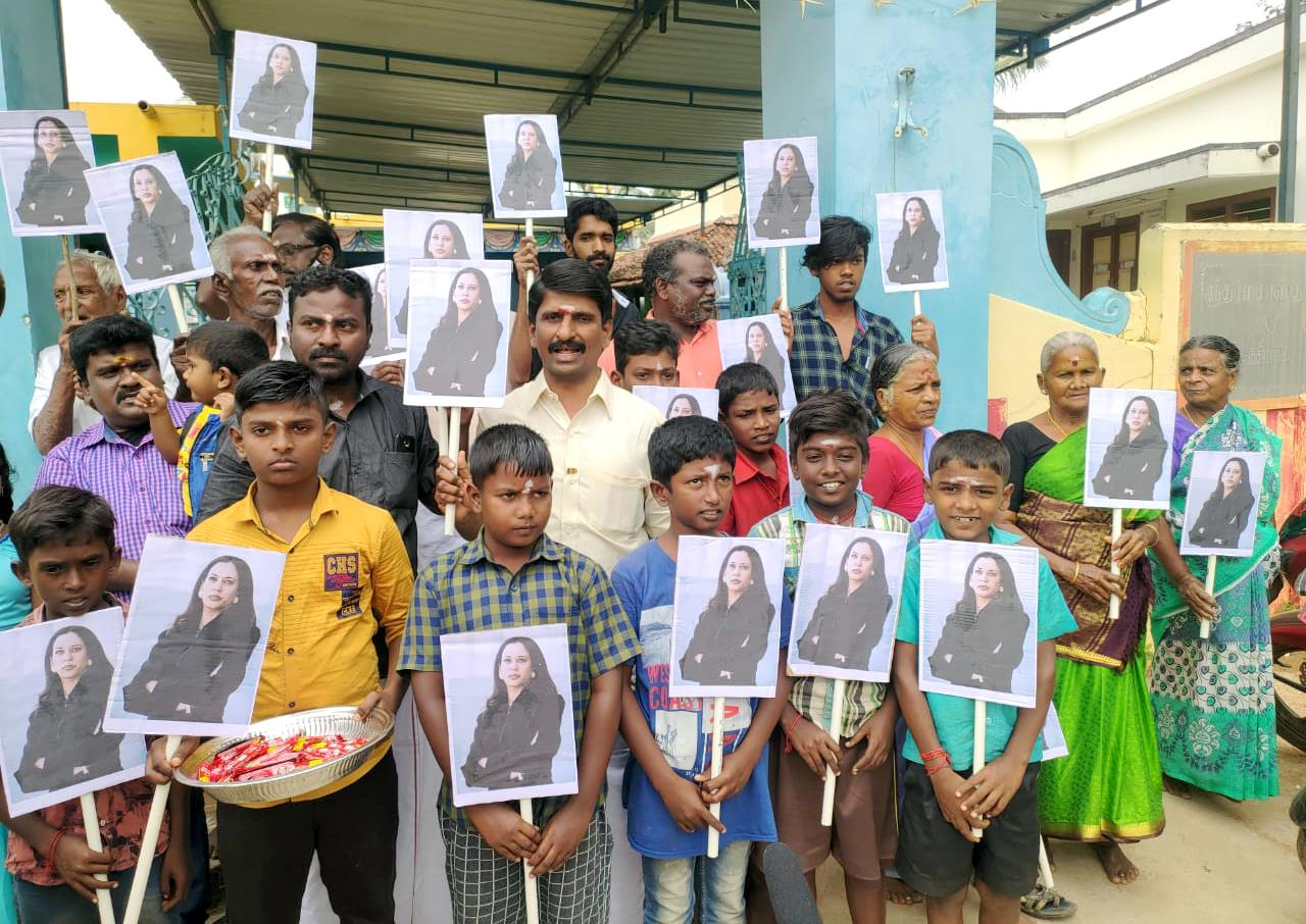 T Nadu Village Cheers For Harris