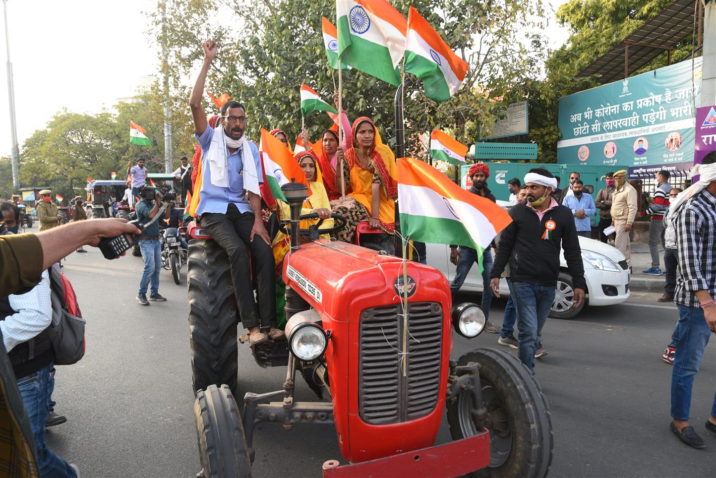 Tractor Parade A Show Of Might: Farmers