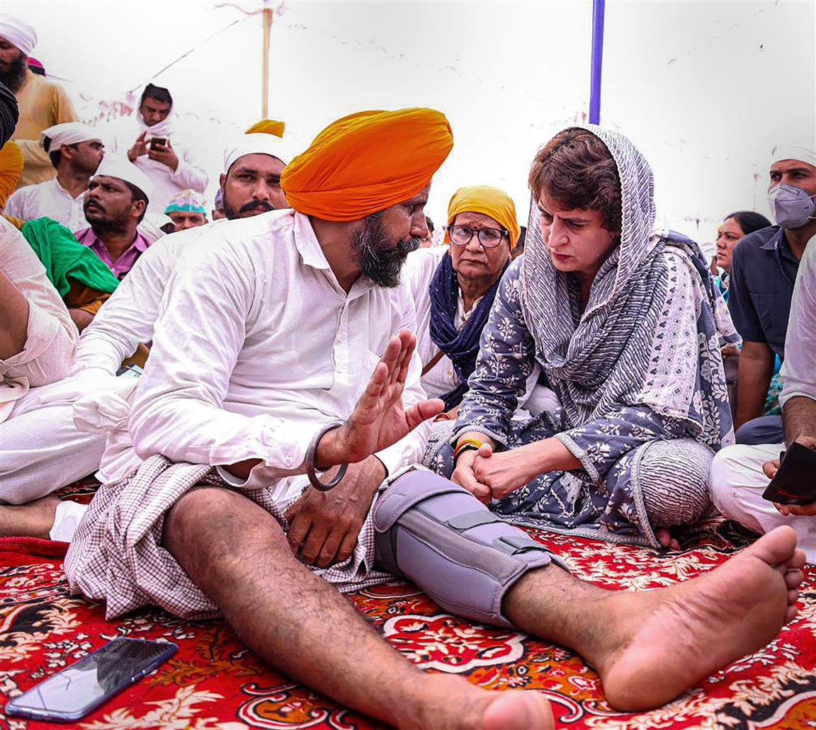 Priyanka Takes Part In Farmers' Rites