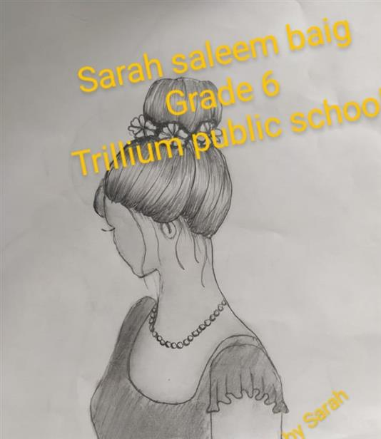 HAIR STYLE: Sarah Saleem Baig