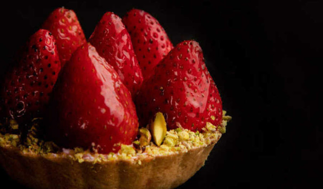 Strawberry Tart For Valentine's Day